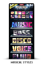 Musical photoshop text effect styles music inspired
