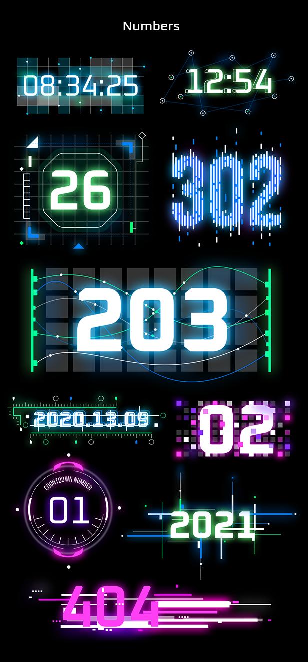 AE脚本-赛博朋克未来科幻霓虹灯发光文本标题背景动态工具包 Cyberpunk Titles Lowerthirds and Backgrounds插图5