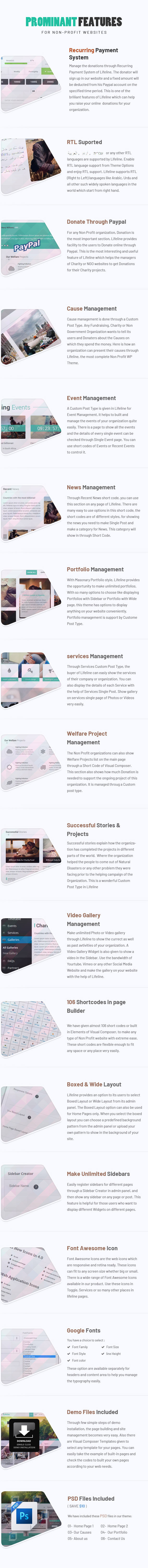 Lifeline - NGO, Fund Raising and Charity WordPress Theme - 5