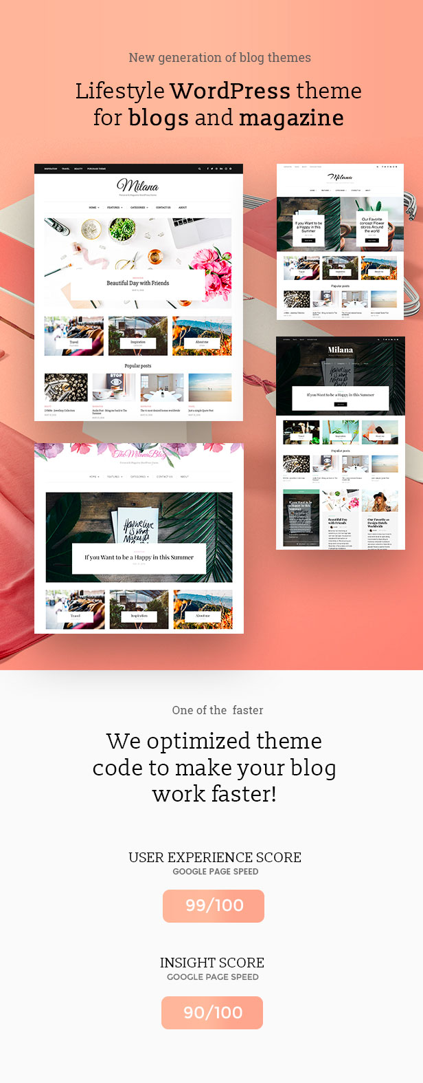Milana - Personal & Magazine WordPress Responsive Fast Blog Theme