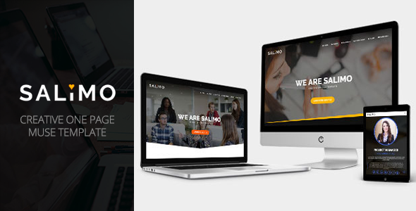 Salimo - Creative One Page Muse Template