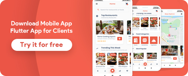 Food Delivery Flutter + PHP Laravel Admin Panel - 11
