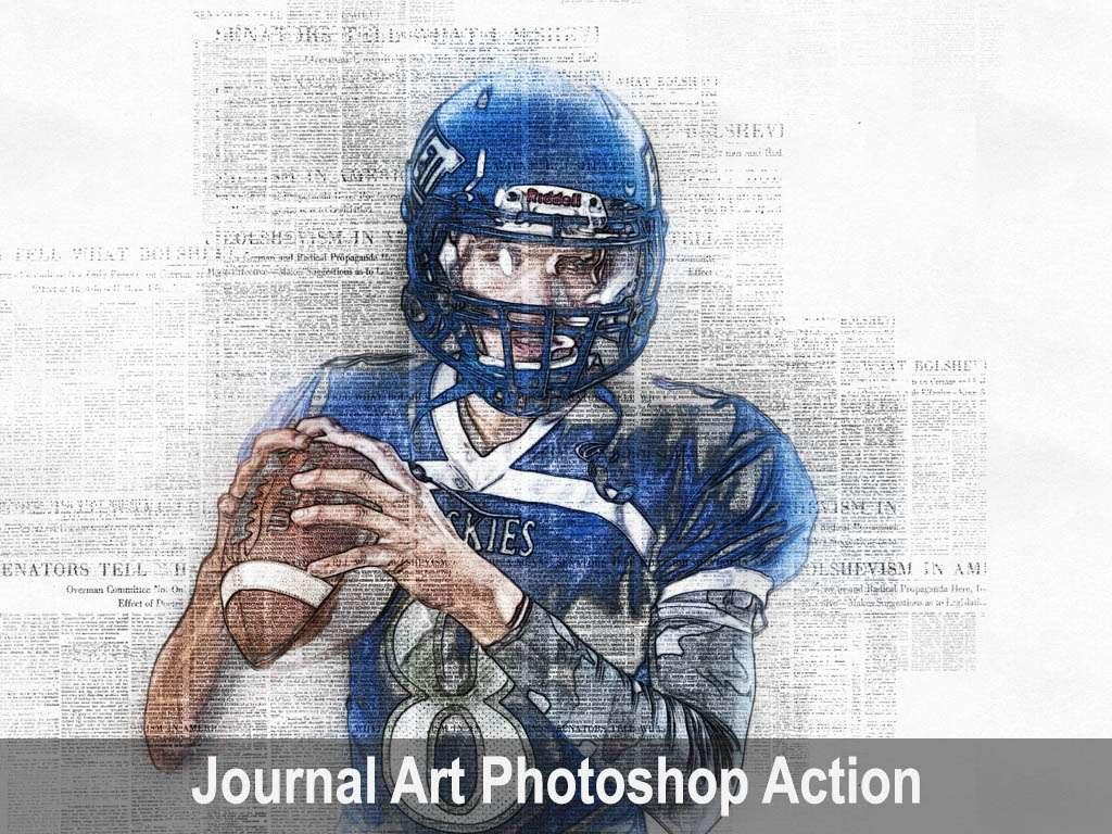 Journal Art Photoshop Action
