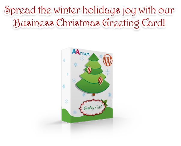 Business Christmas Greeting Card - WP Plugin - 1