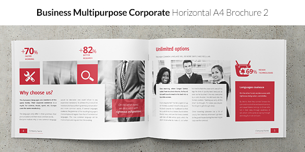 Business / Corporate Multi-purpose A4 Brochure 2