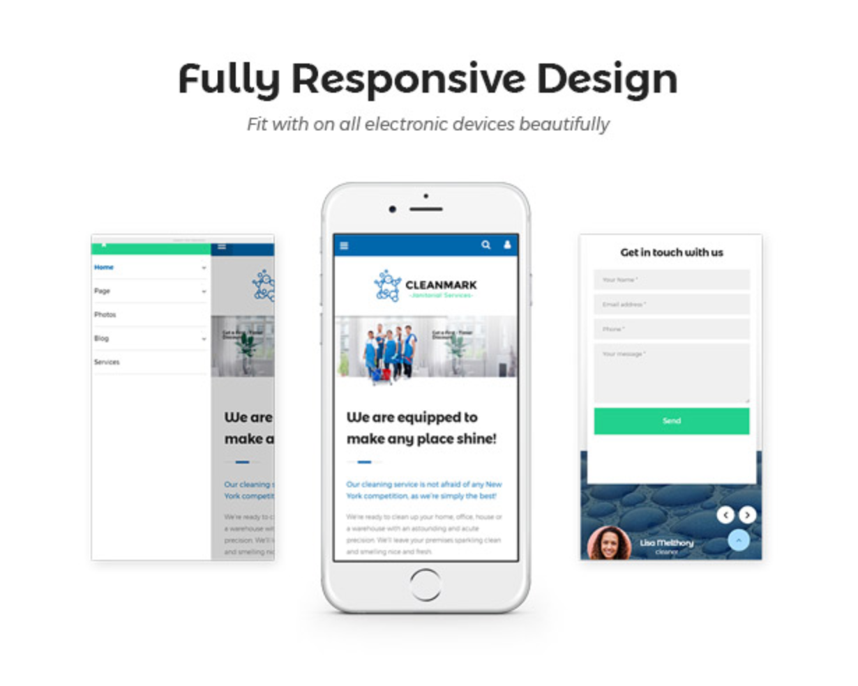 Cleanmark Responsive Design - Best Cleaning Service, Cleaning Company, Cleaning Business WordPress Theme