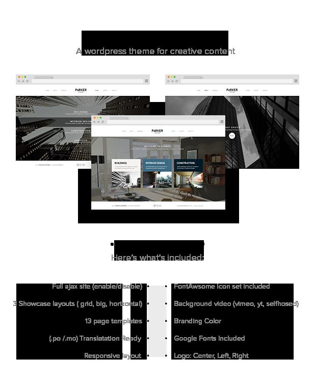Parker - Creative WordPress Showcase - 4