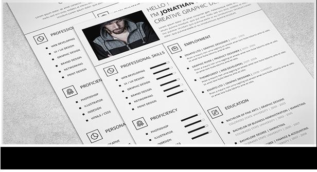 Clean and Minimal Resume Set - 4