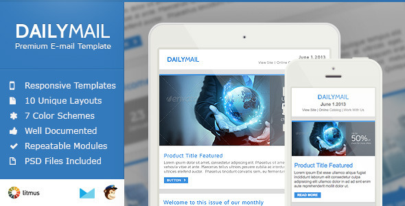 daily mail clean psd email newsletter template by smythemes
