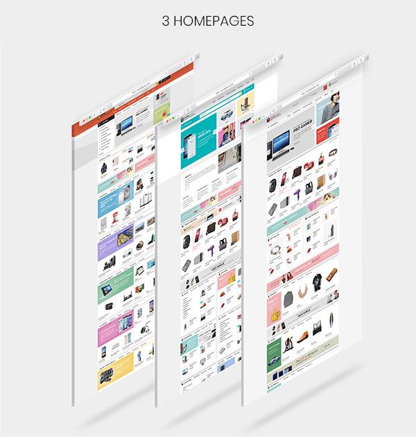SarahMarket - AliExpress克隆OpenCart主题 - 3个家园