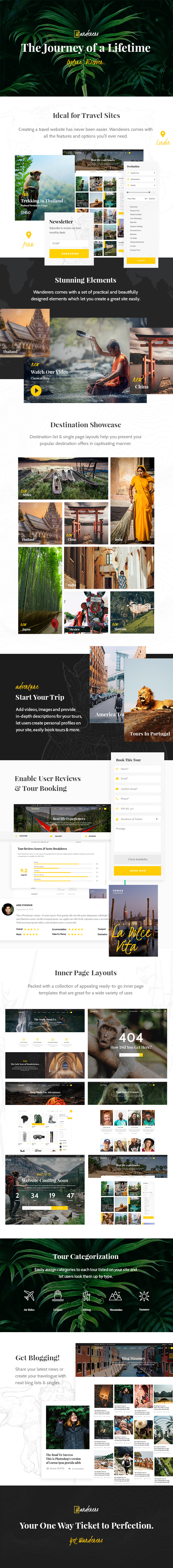 Wanderers - An Adventurous Theme for Travel and Tourism - 1