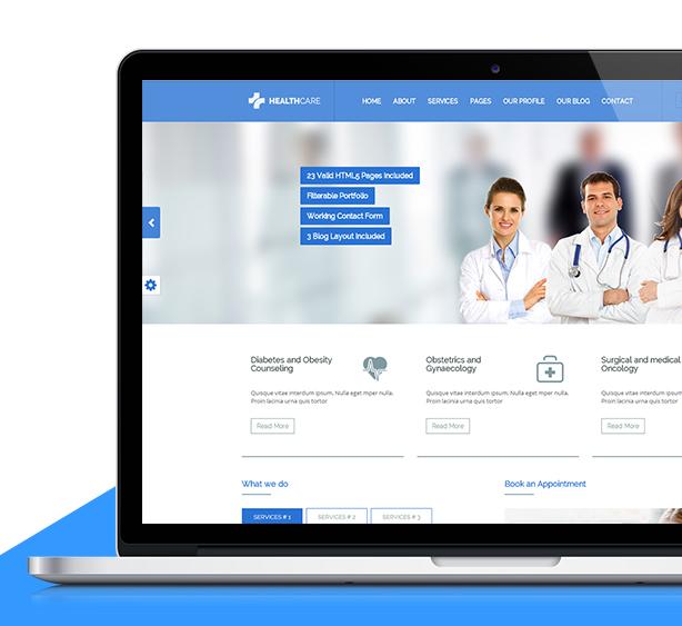 health care doctor hospital clinic medical responsive website