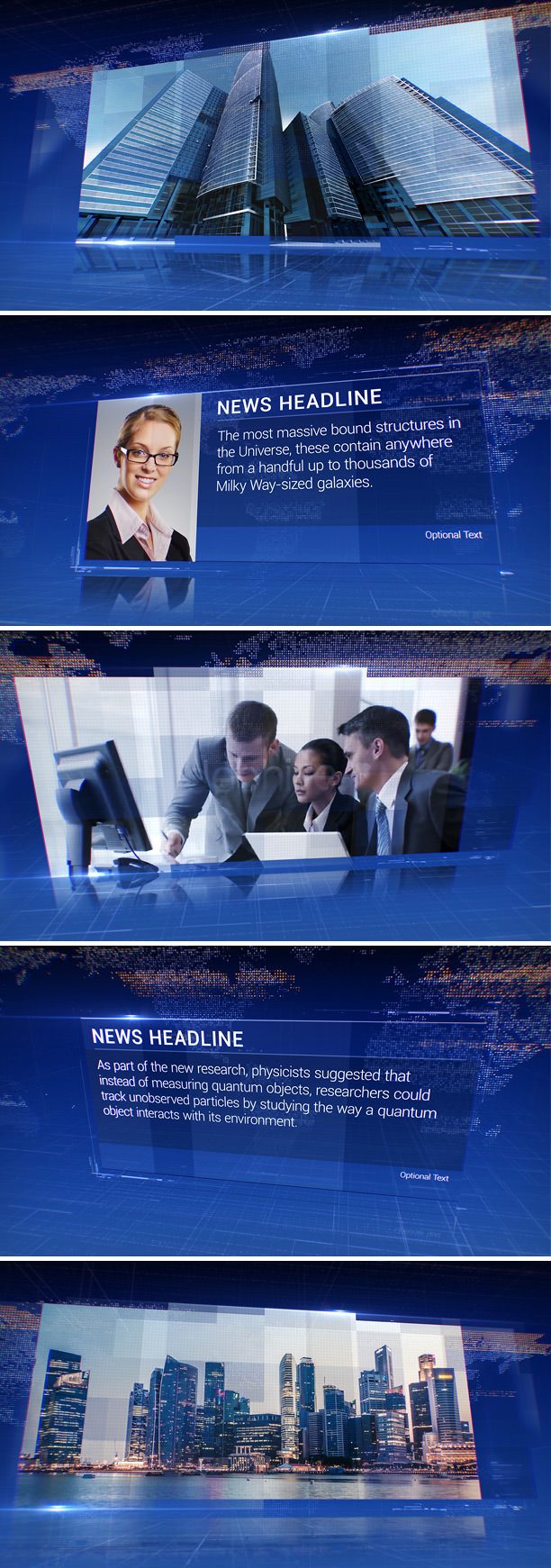 News After Effects Template for TV channel design, dynamic presentation, corporate event