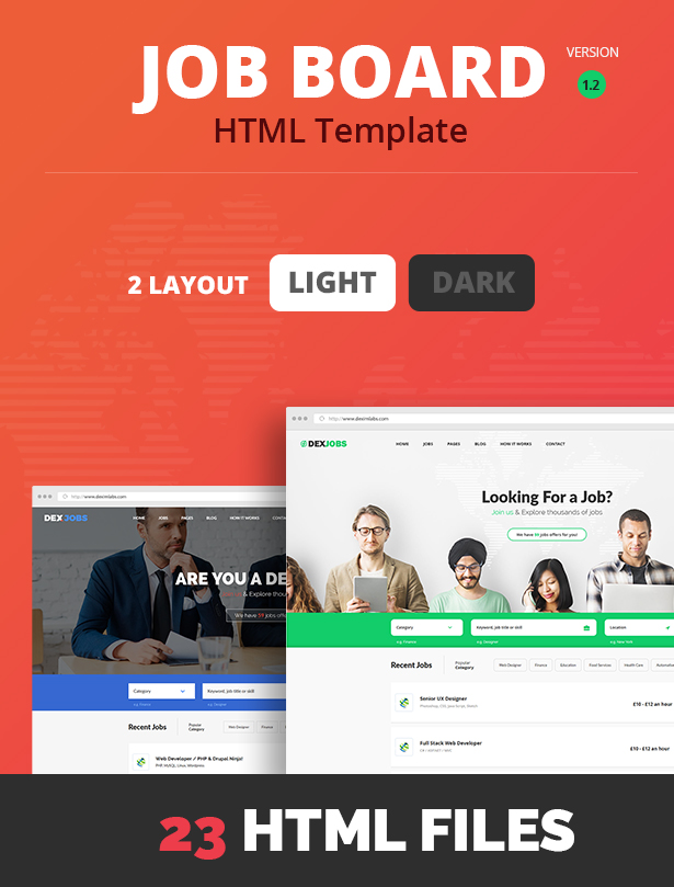dexjobs job board html template free download  Dexjobs Job Board HTML Template by dexim | ThemeForest