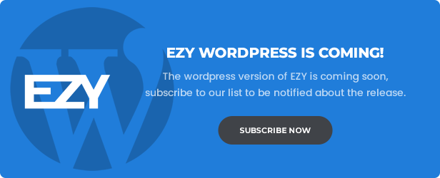 EZY - Responsive Multi-Purpose HTML5 Template - 1