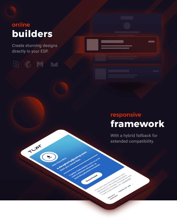 Online builder with responsive framework