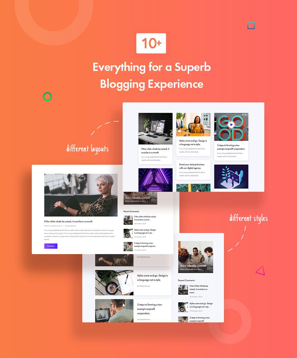Multiple blog styles