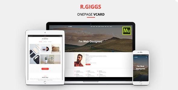 R. Giggs - Vcard, Portfolio & CV Resume Muse Template