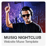 Musiq Nightclub Bar Discoteque Website Adobe Muse Template