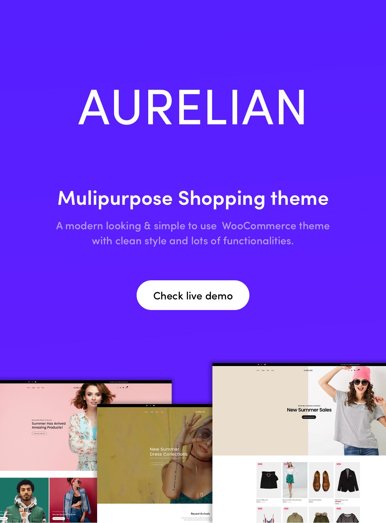 Aurelian - Multipurpose WooCommerce Theme 3