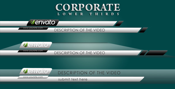 Silver Lower Thirds Corporate