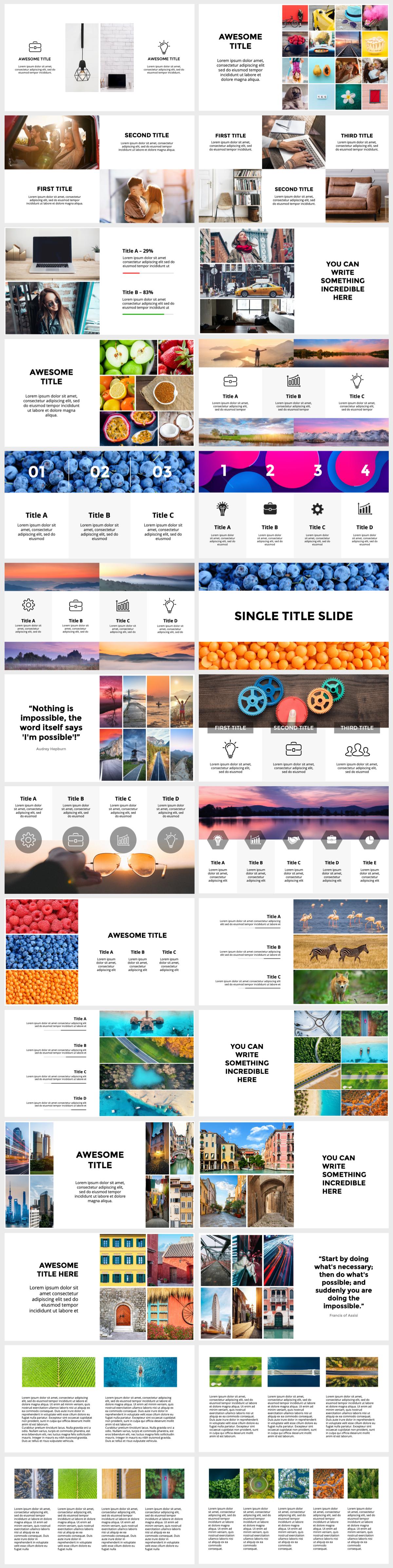 Huge Infographics Bundle! Lifetime Updates! PowerPoint, Photoshop, Illustrator. - 128