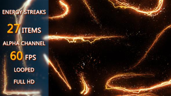 视频素材-50个魔法能量发光线条纹粒子素材包 Elegant Light Streaks With Particles插图4