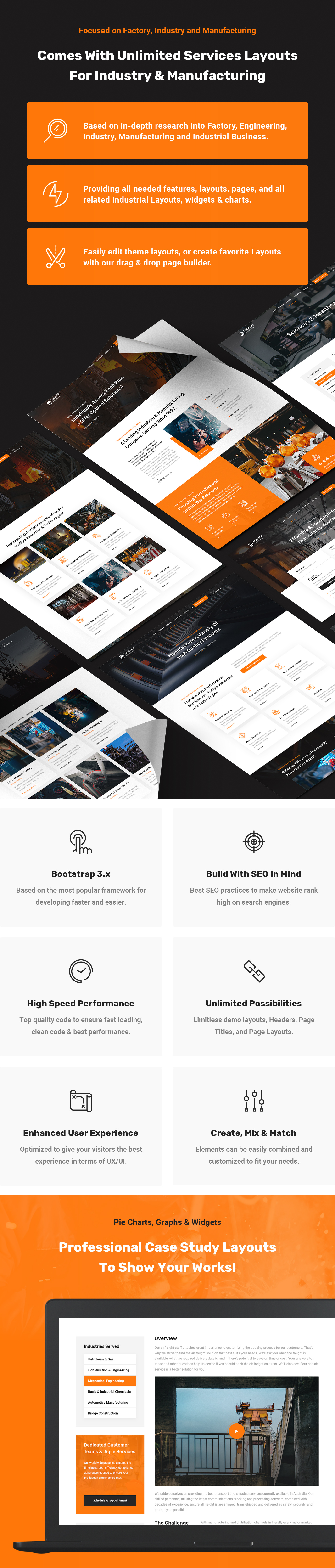 Industic Factory and Manufacturing HTML5 Template by