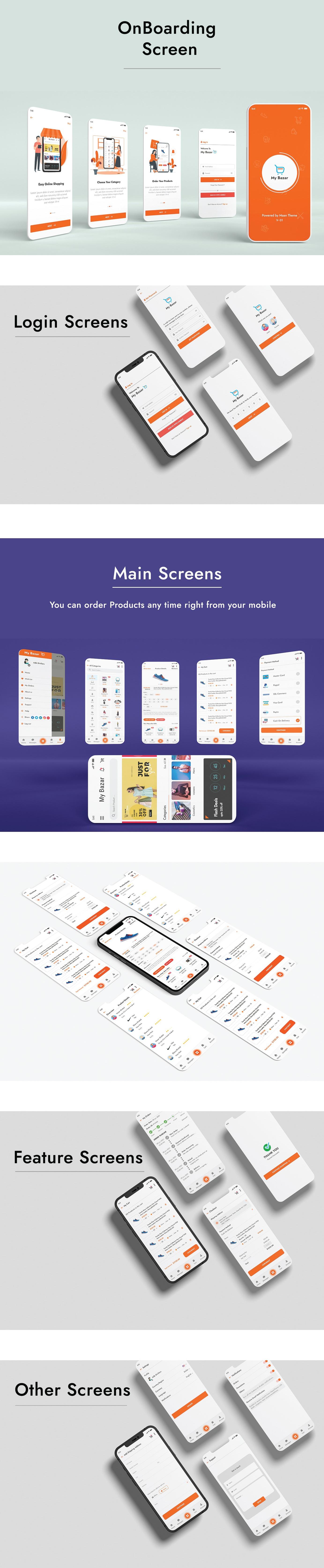MyBazar- Flutter E-Commerce UI Kit - 1