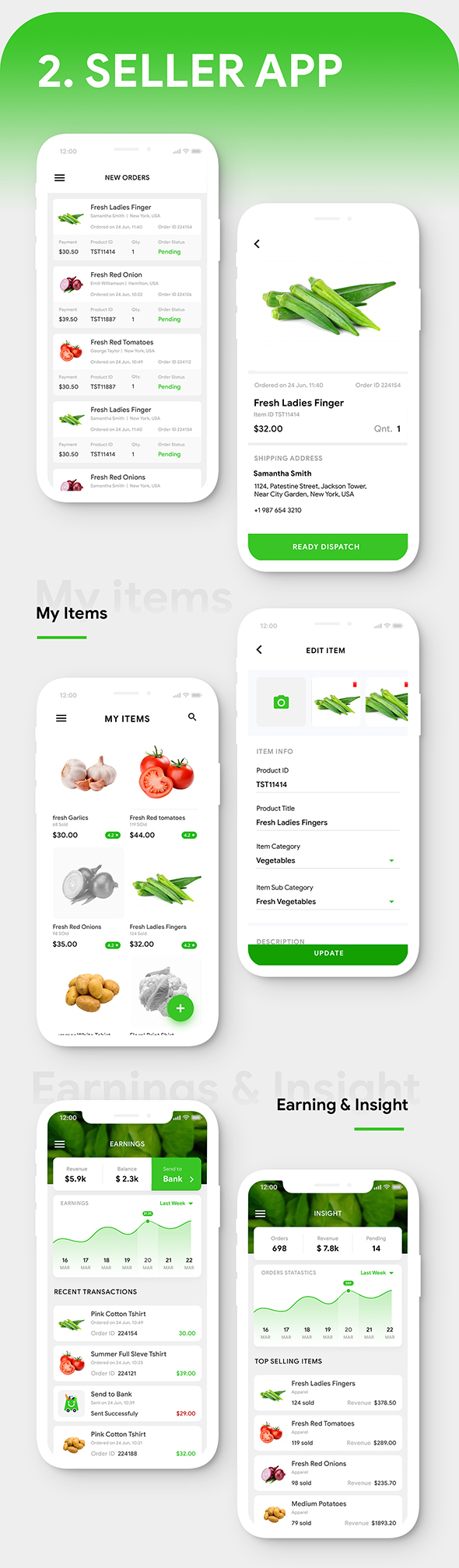 Grocery Flutter App Template | 3 Apps | User App + Seller App + Delivery App | GroShop - 5