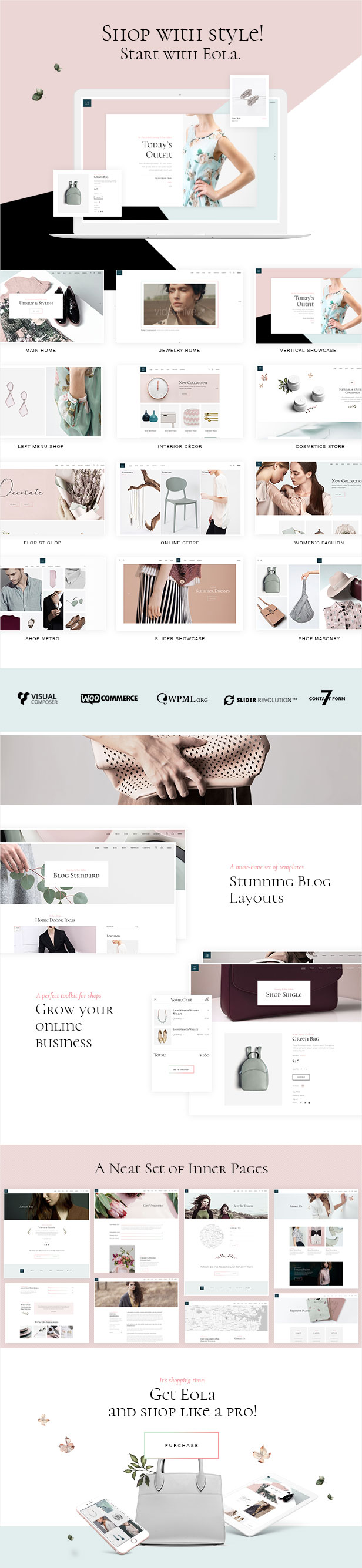 Eola - An Elegant, Multipurpose WooCommerce Theme - 1