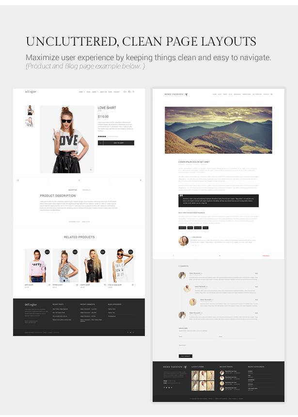 inVogue - WordPress Fashion Shopping Theme - 10