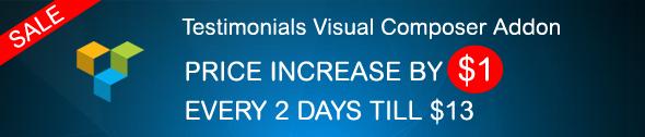 Testimonial Visual Composer Sale