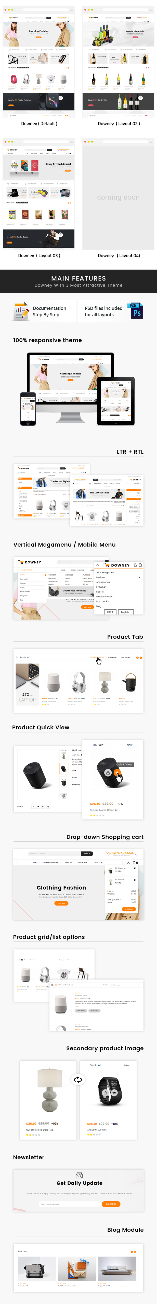 Downey - Responsive Prestashop 1.7 Theme