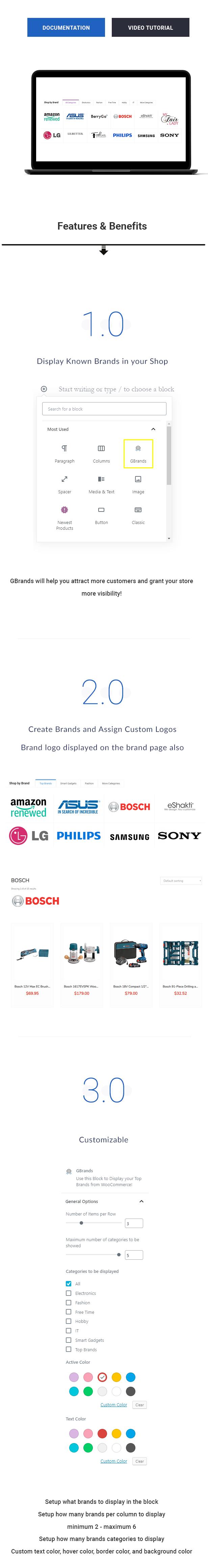 GBrands - WooCommerce Gutenberg Brands Block - 1
