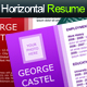 Horizontal Resume with 04 Colour Combination - GraphicRiver Item for Sale
