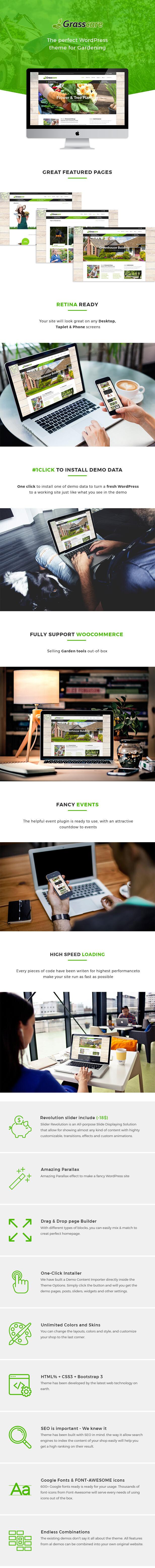 GrassCare - Gardening & Lawn Responsive WordPress Theme - 5