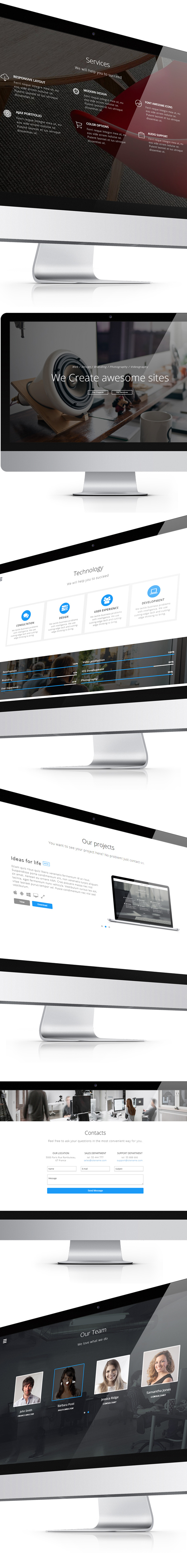 Avensis - One Page Responsive Parallax Template - 3