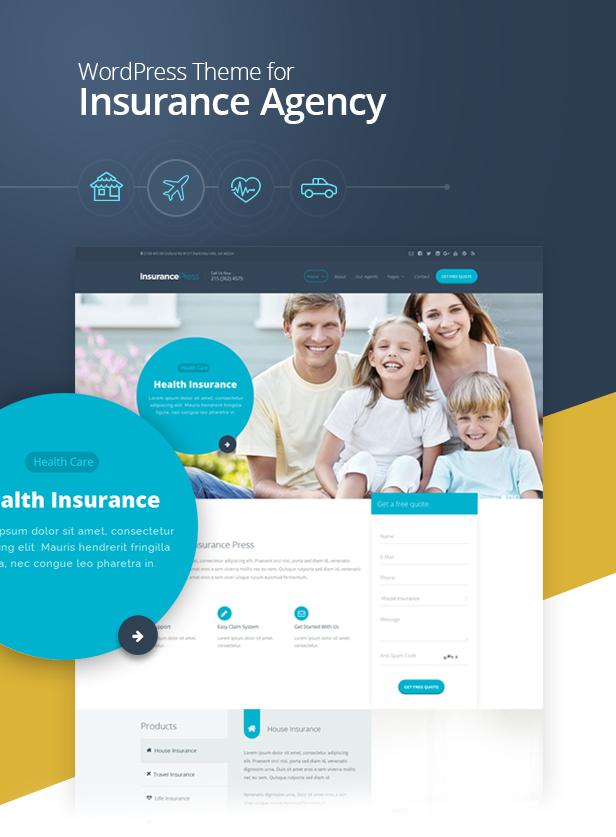 insurance theme for wordpress  Insurance Agency WordPress Theme | Insurance Press by SkatDesign ...