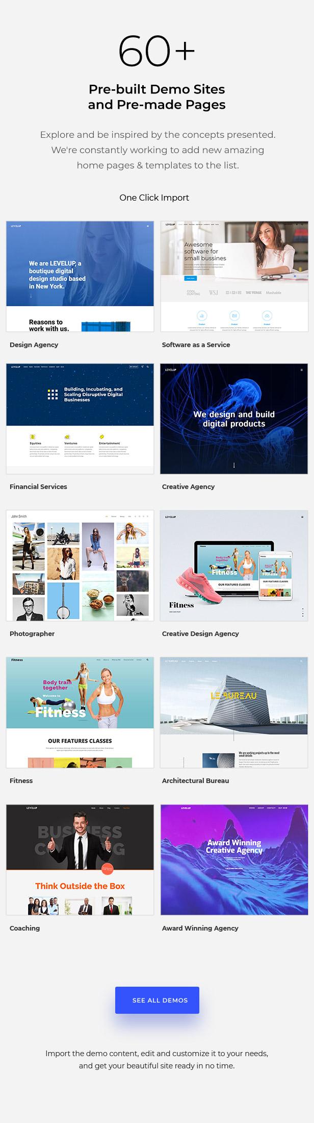 LEVELUP - Responsive Creative Multipurpose WordPress Theme - 2