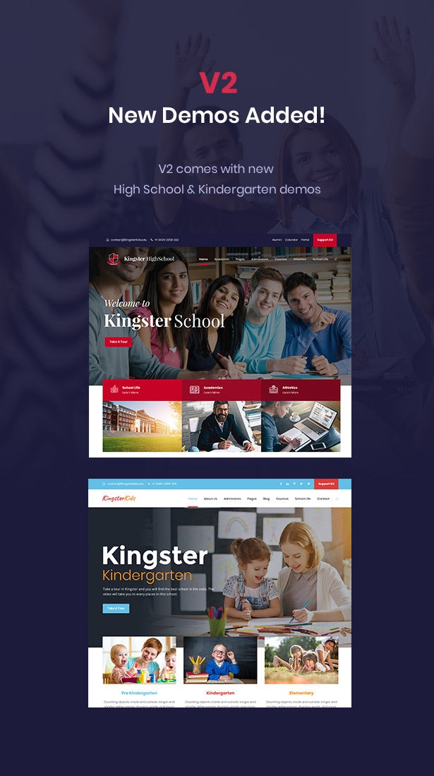 Kingster - Education WordPress Theme For University, College and School - 2