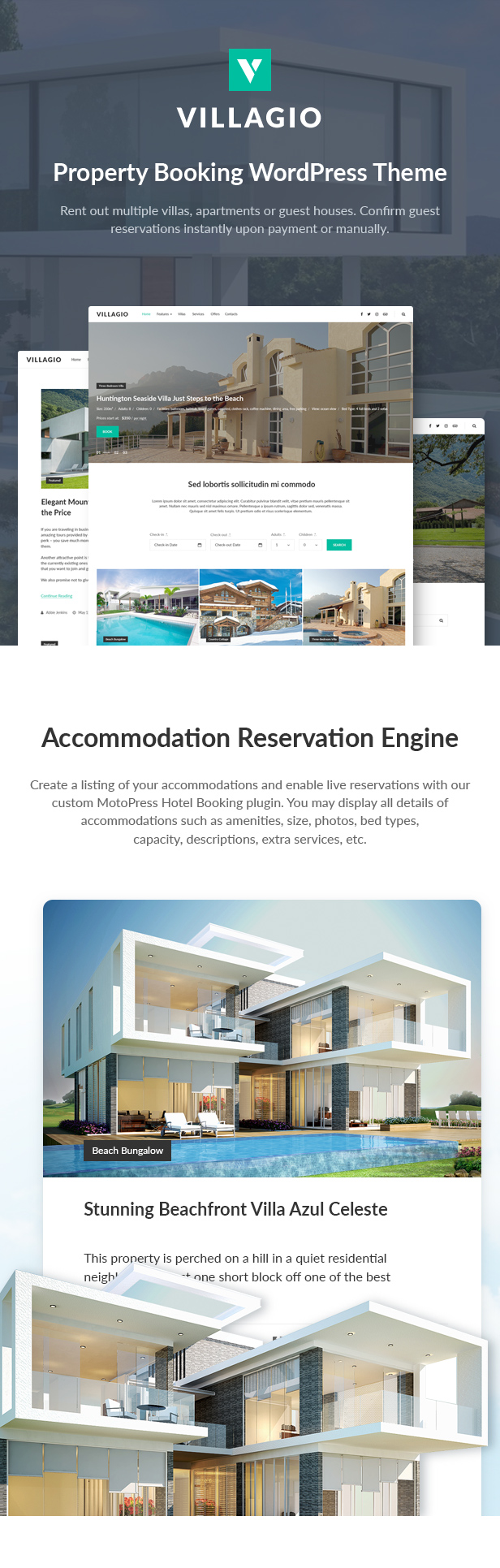 Vacation Rental WordPress Theme - Villagio - 2