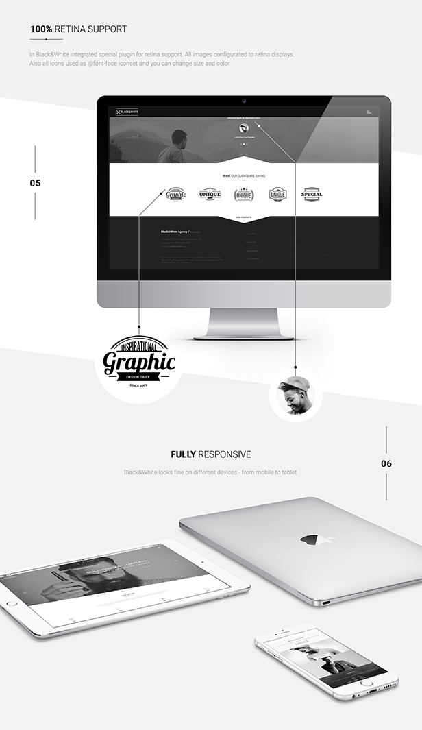 Black&White - Creative Multipurpose WordPress Theme - 7