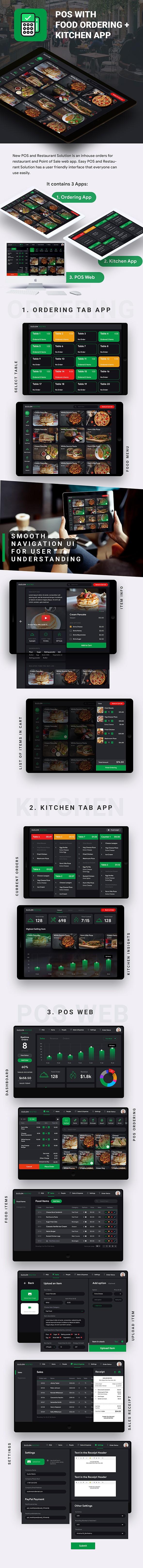 Restaurant Kitchen App + Restaurant Menu App+ Restaurant POS Web App | Android+iOS | IONIC 5 - 3