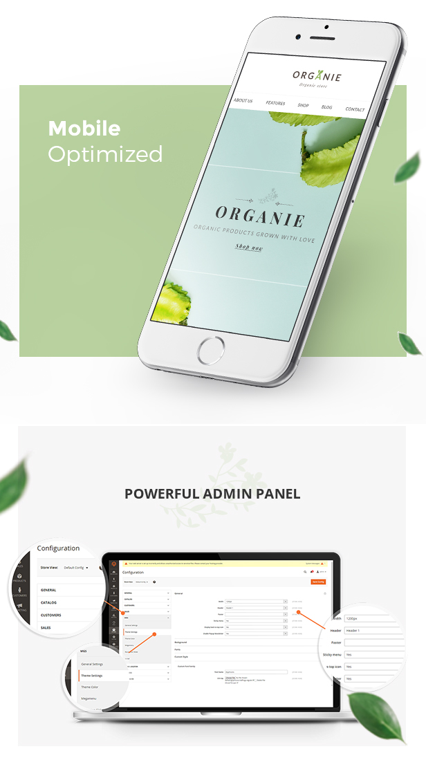 Organie - An Organic Store, Farm, Cake and Flower Shop Magento 2 and 1 Theme - 10