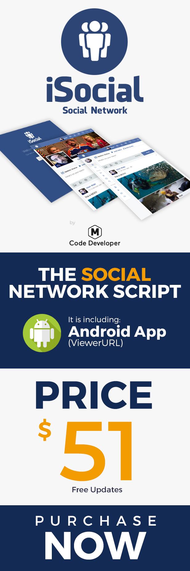 iSocial - Social Network Platform - 1
