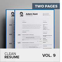 Clean Resume Vol. 5 - 20