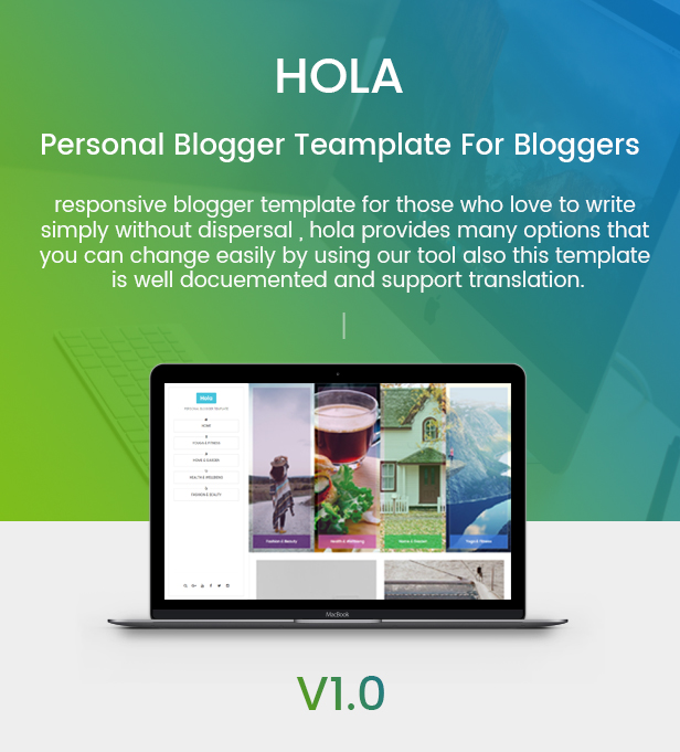 hola personal blogger template for bloggers by inventionlabs