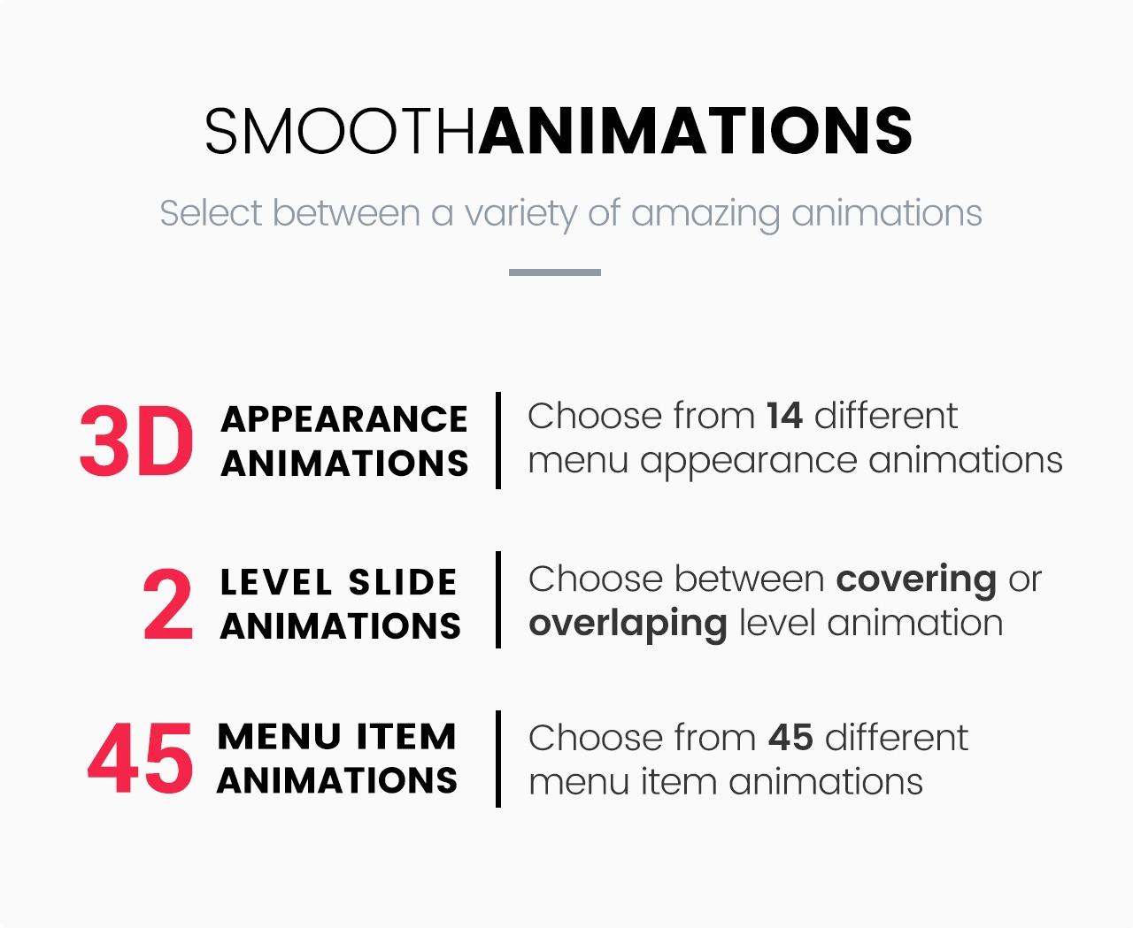 Slick Menu - Smooth Animations