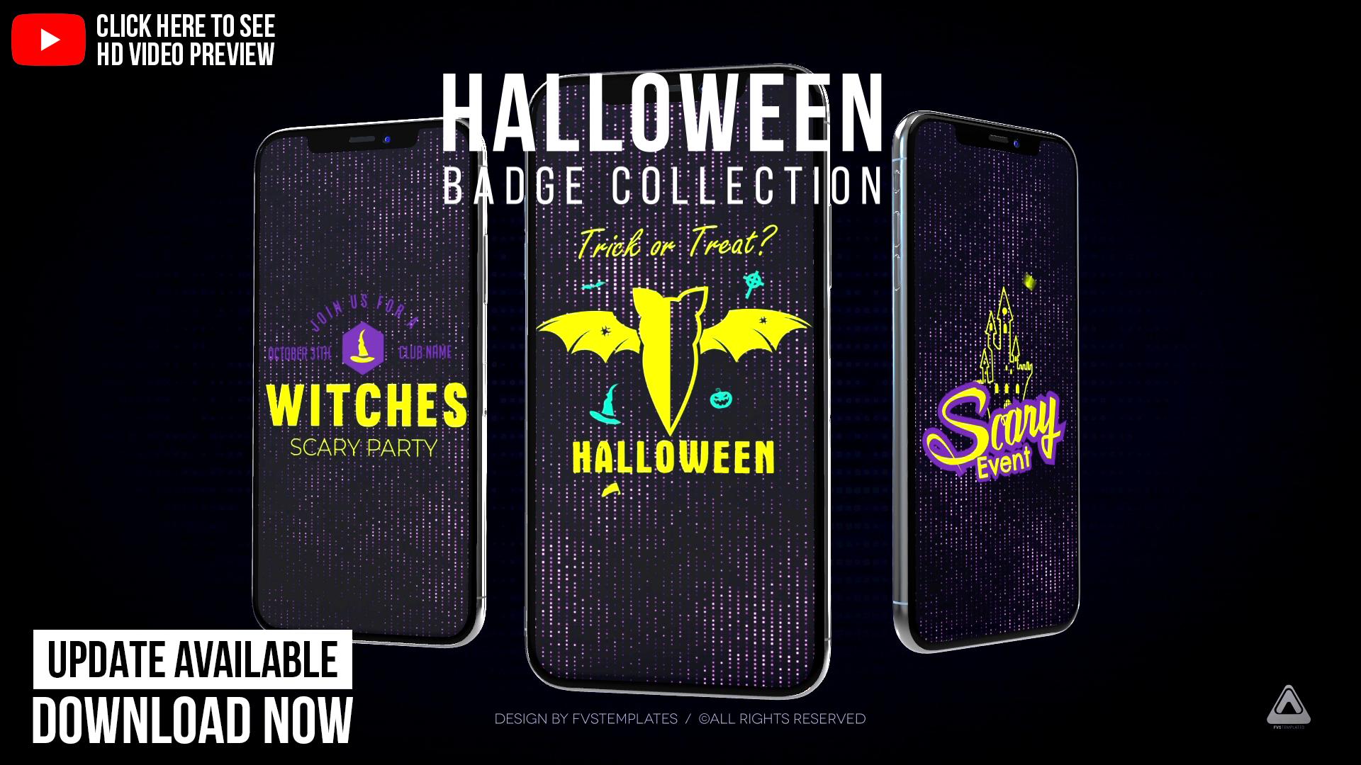 Halloween IGTV / Halloween Badge Collection Pack_2018